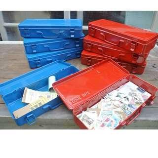 【HOPEWELL,好窩】TOOLBOX復古鐵製工具盒 收納盒 工業風{紅,藍}
