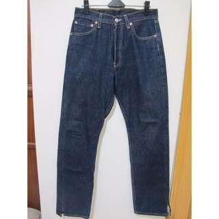 Levis501排釦直筒褲牛仔褲 W29