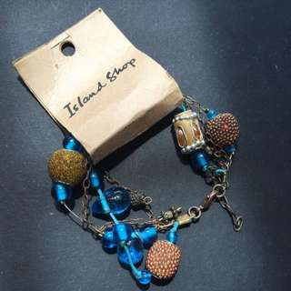 Brand New Island Shop Blue Stones & Beads Bracelet