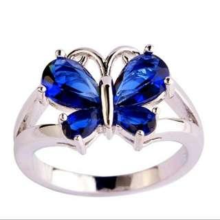 Butterfly Quartz gemstone silver Ring