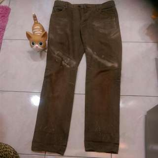 Blue Wry 日本制古銅色中直筒牛仔褲