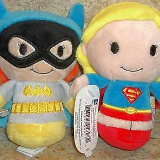 LIMITED EDITION Hallmark Itty Bittys Batgirl And Supergirl