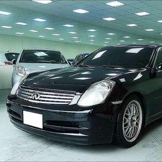 04年 INFINITI(極致) G35 4門轎跑 黑配黑 基本(精品)改裝