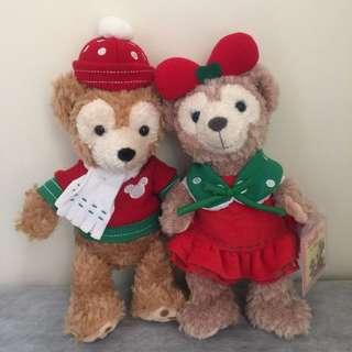 🚚 香港迪士尼帶回聖誕節Duffy達菲雪莉玫娃娃