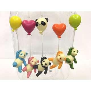 扭蛋 氣球 熊貓