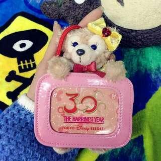 日本迪士尼絕版品 30週年紀念票夾 Duffy Shelliemay