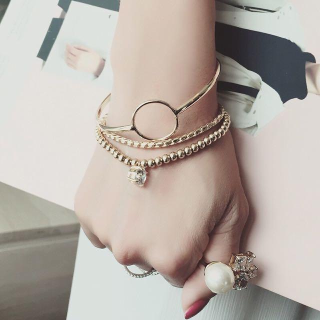 元気集®[造型時尚單品]🇰🇷韓國個性混搭3件組手環 (現貨)