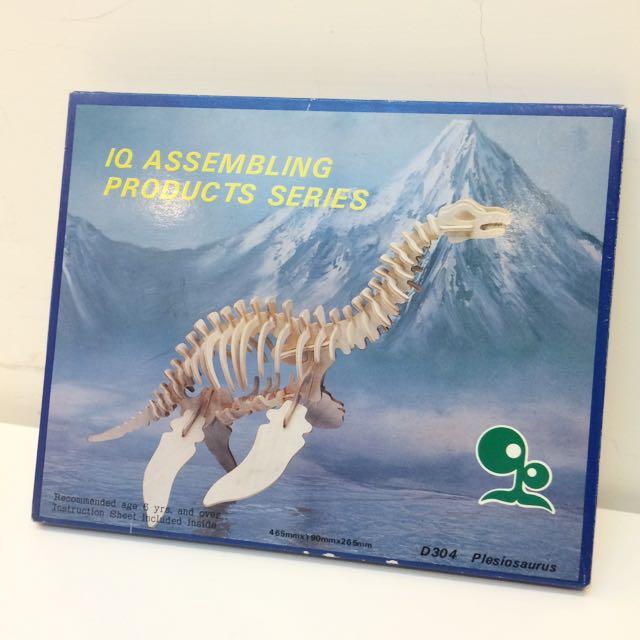 🍎恐龍立體木拼圖🐉雷龍款