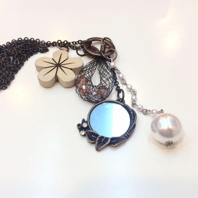 🍏小花珠珠長項鍊🌸