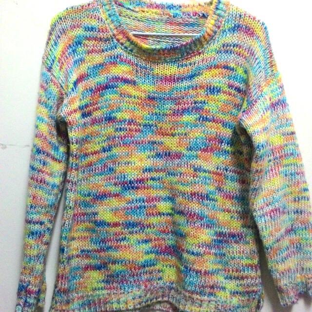 繽紛彩線針織毛衣