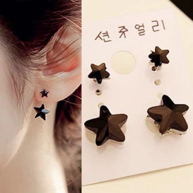 元気集®[小清新風]韓國星星懸吊式耳環