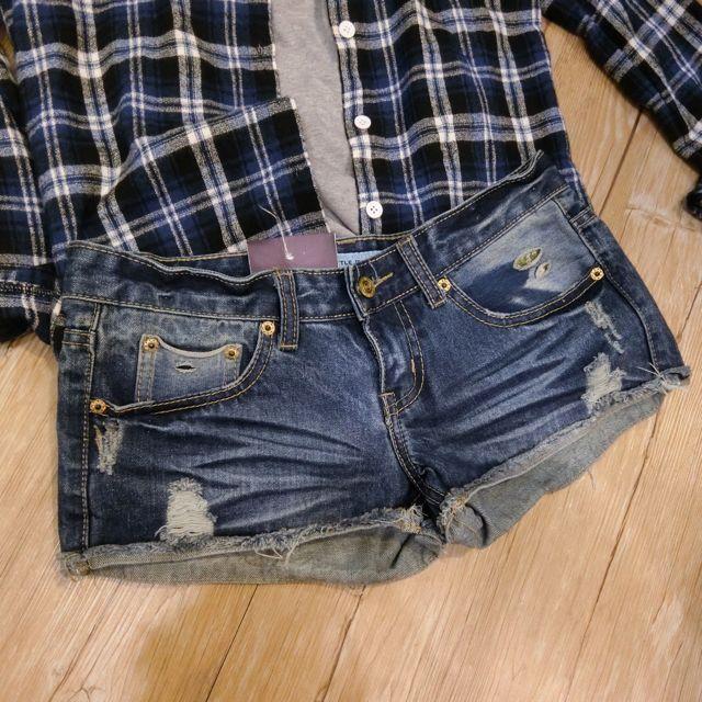 全新牛仔短褲(含運)