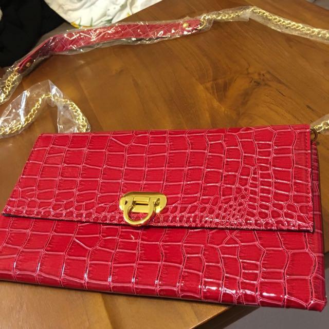 包包 紅色手拿 側背包