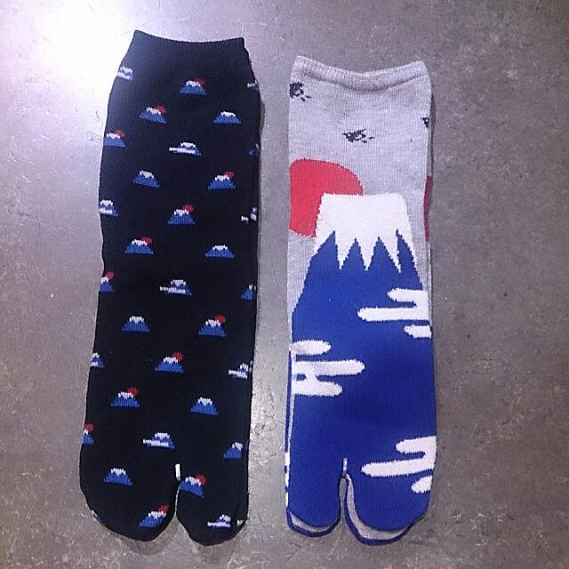 郵寄含運!日本帶回 💕 富士山足袋襪 一雙150