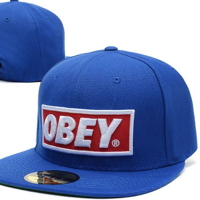 日本帶回 保證正品 Obey帽 藍