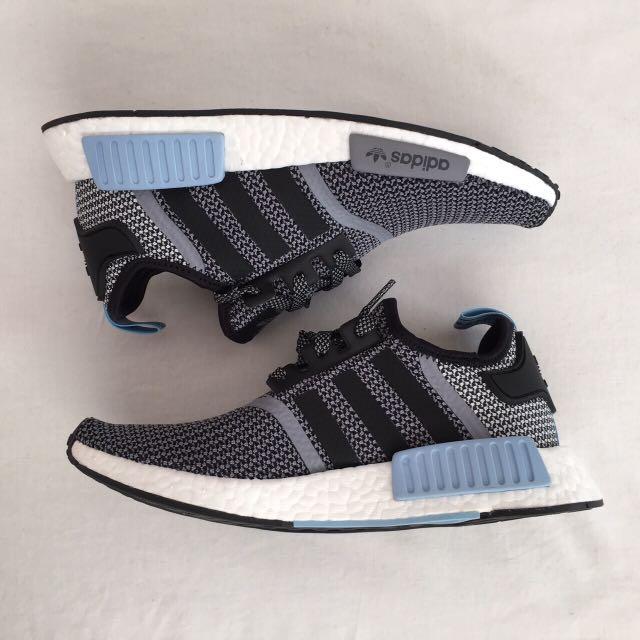 全新 Adidas NMD Runner Black/blue US7 Sold Out