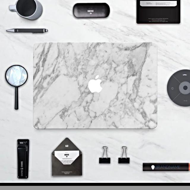 大理石款 Mac Pro Air 蘋果電腦保護貼膜,內含4份貼膜 [全包版]