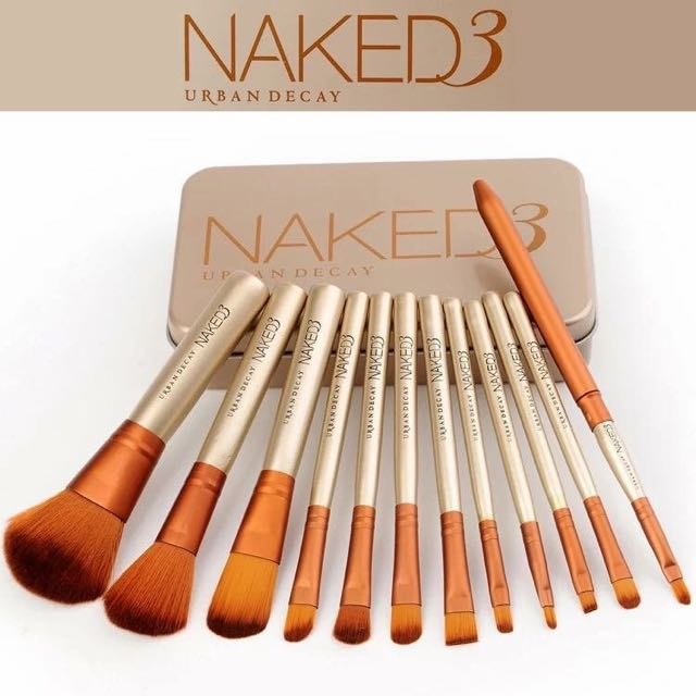 元気集®[ Naked3 ] 鐵盒化妝刷12支組