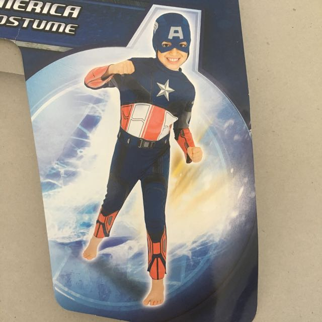 Captain America Dress Up Costume Size 6-8