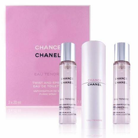 CHANEL 香奈兒 CHANCE 粉紅甜蜜版行動香水-售補充瓶