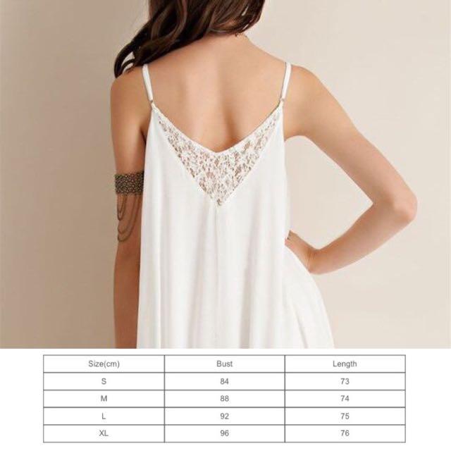 cd6351ed712e Flowy Elegant Casual White Lace Boho Chic Bohemian Straps Style Dress - Code  E853