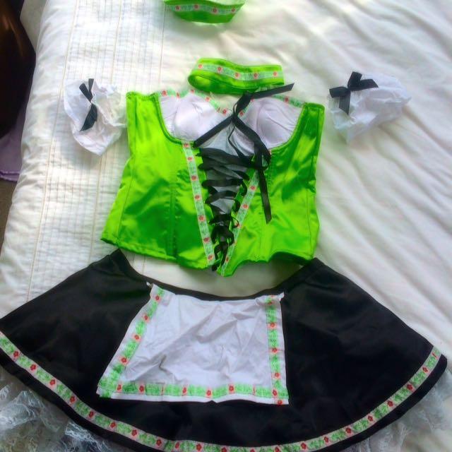 Green Oktoberfest Beer Maid Costume