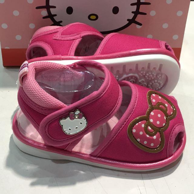 Hello kitty 嗶嗶布涼鞋-桃