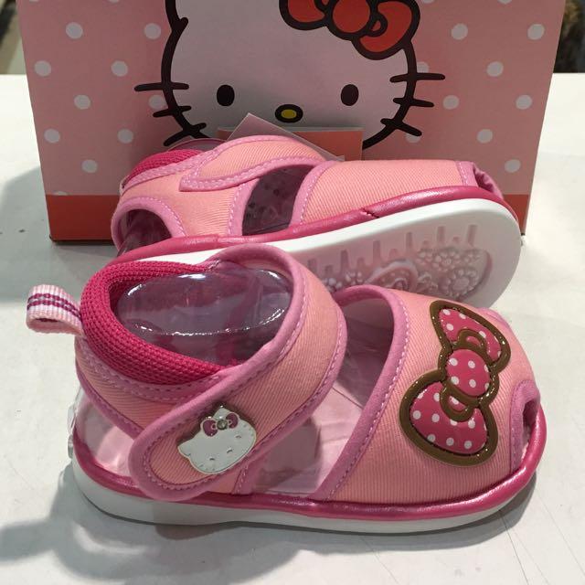 Hello kitty 嗶嗶布涼鞋-粉