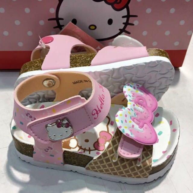 Hello kitty 冰淇淋🍦系列勃肯涼鞋-粉