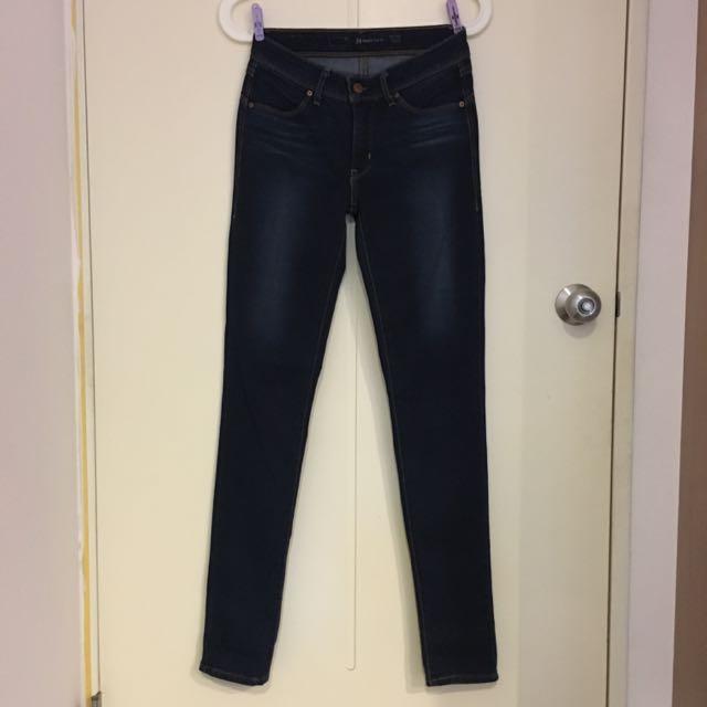 (降)Levi's Slight Curve skinny 原色緊身牛仔褲