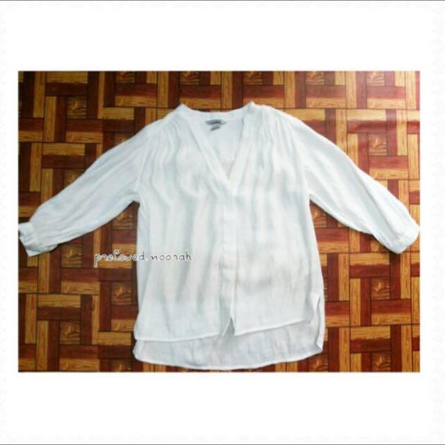 LOOKING FOR: White Mandarin Collar Top