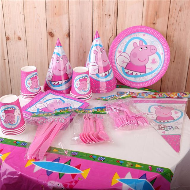 photo photo ... & Pre-order Brand New Peppa Pig Party Set Party Supplies Babies ...