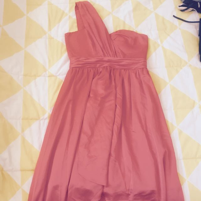 Sheike Size 10 Cocktail Dress Coral