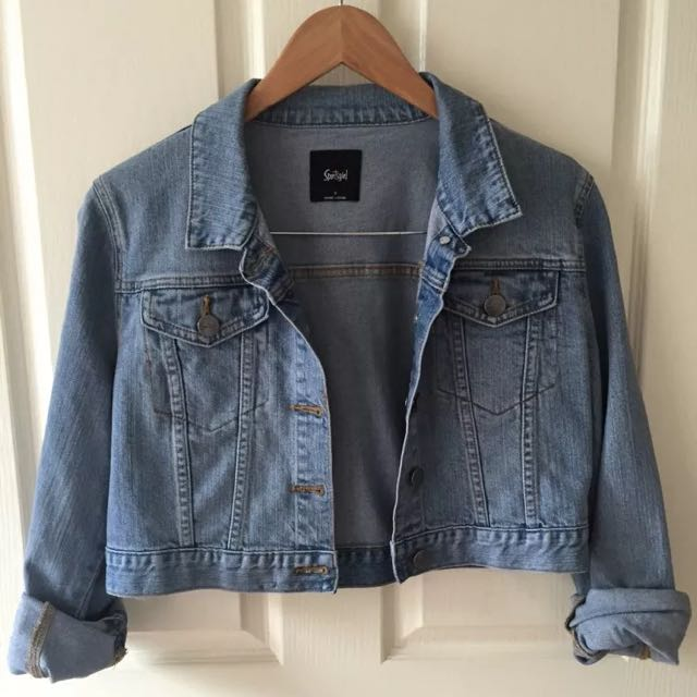 Sportsgirl Denim Jacket Size:10 New Without Tags