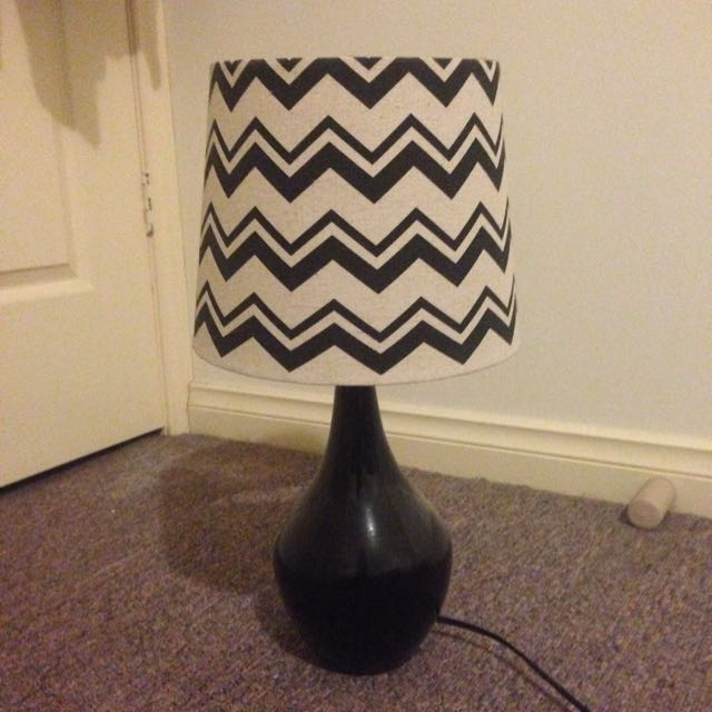 Stripey Bedside Table Lamp
