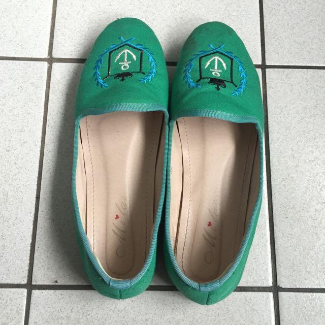 Tiffany綠船錨⚓️平底鞋