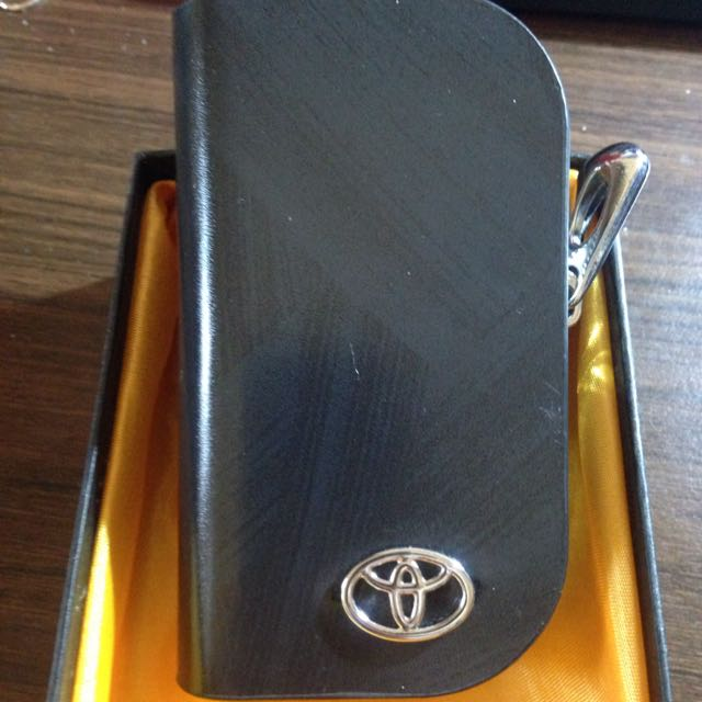Toyota真皮遙控器 鑰匙包 黑色 棕色