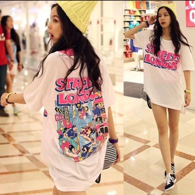 春夏韓版流行T恤女夏卡通印花短袖T恤寬鬆顯瘦半袖上衣服韓版學生閨蜜姐妹裝