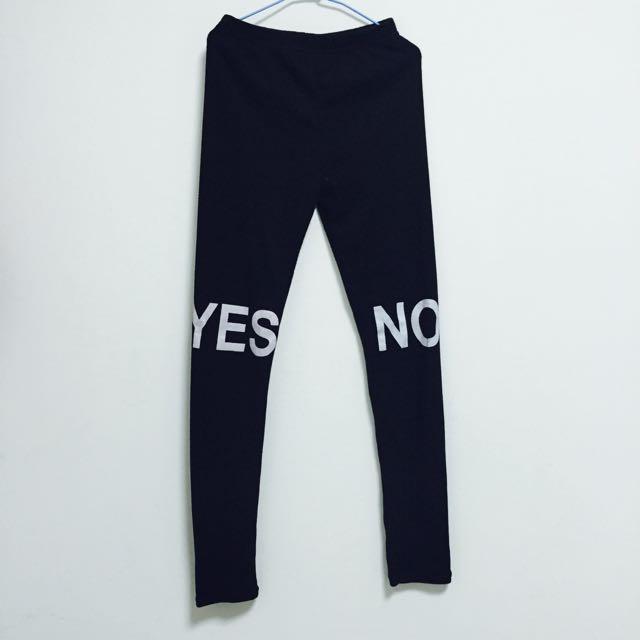 全新✨Yes No 黑色內搭褲