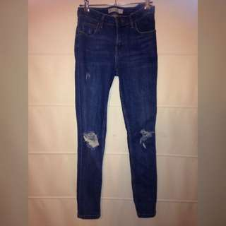 TOPSHOP Lucas Ripped Jeans