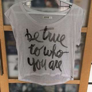 Garage Be True To Who You Are Tee