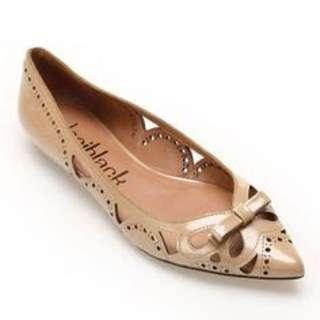 NEW Dani Black Cutout Patent Ballet Flat shoes Size 38/39