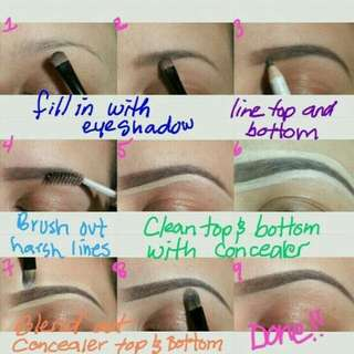 attn: for girlss out there tutorial for draw eyebrow