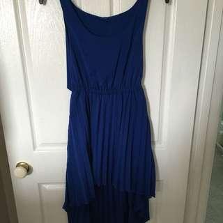 Blue Half Maxi Dress