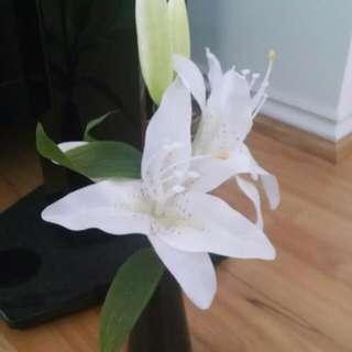 Fake Lily Plant x 2