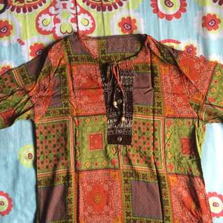 Patches Thailand Traditional Blouse