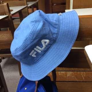 FILA 漁夫帽 淺藍 牛仔 正品