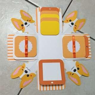 客製化盒子卡片(柯基)