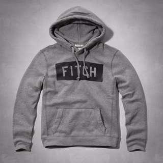 2016 A&F Abercrombie & Fitch Logo Graphic 灰色經典LOGO帽T   M  L號