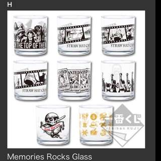 Set Of 8pc Ichiban Kuji One Piece Glasses